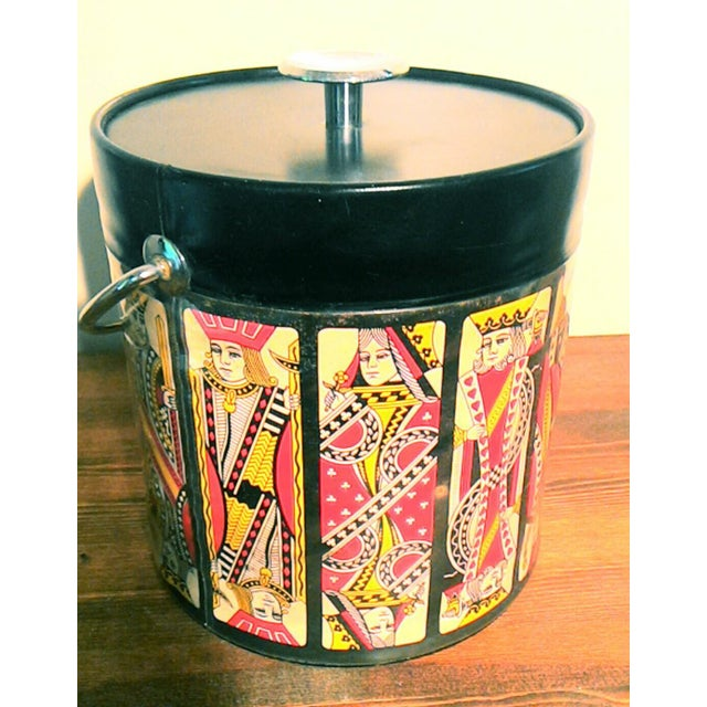 Mid-Century Card Theme Ice Bucket - Image 4 of 7