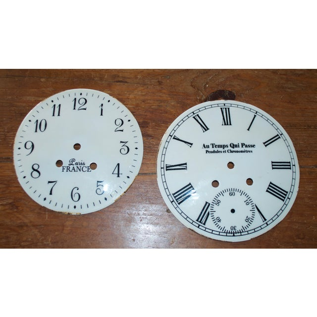 French Shabby Chic Clock Faces - A Pair - Image 2 of 5