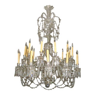 Antique Mid 19th Century Baccarat Crystal Chandelier