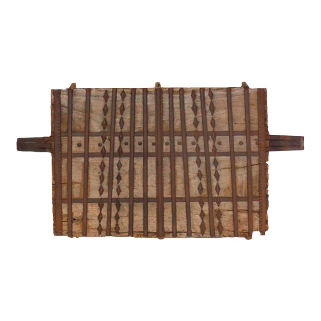 Wood and Iron Architectural Element For Sale