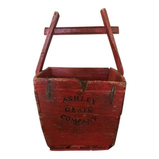 Mid 19th Century Antique Grain Bucket For Sale