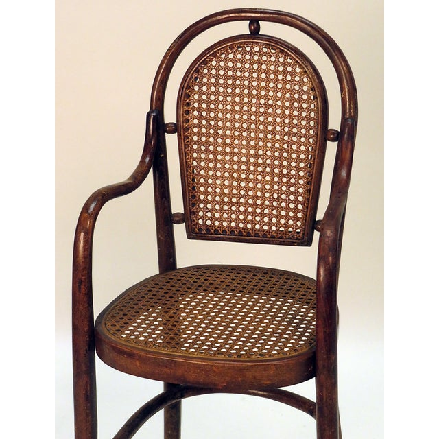 Traditional 1900s Rare Child Thonet Chair For Sale - Image 3 of 4