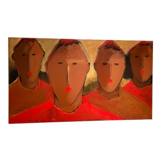 Tim Turner Four Men Named Red Contemporary Painting For Sale