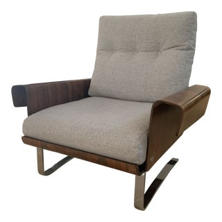 Vintage Mid-Century Selig Danish Ib Kofod Larsen Executive Lounge Chair For Sale