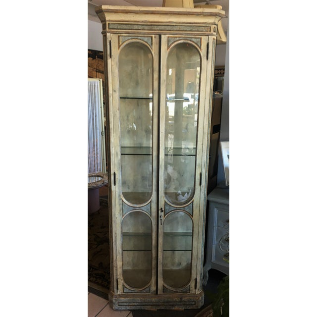 Vintage Hand Painted Curio Cabinet For Sale - Image 12 of 12