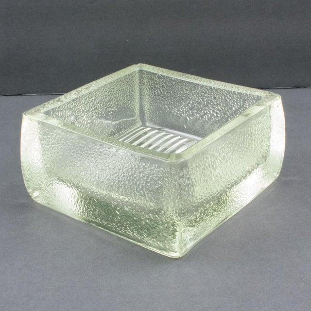 Le Corbusier for Lumax Molded Glass Catchall Ashtray For Sale - Image 12 of 13