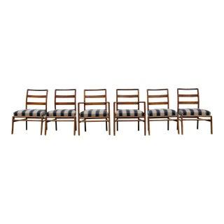 1950s Mid-Century Modern t.h. Robsjohn-Gibbings for Widdicomb Dining Chairs - Set of 6 For Sale