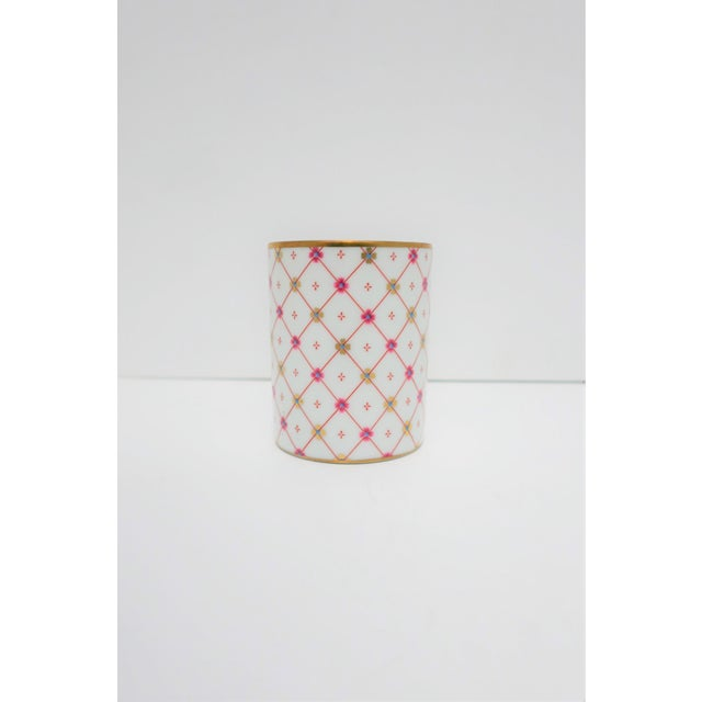 Late 20th Century Italian White and Gold Porcelain Vanity Cup by Designer Richard Ginori For Sale - Image 5 of 11