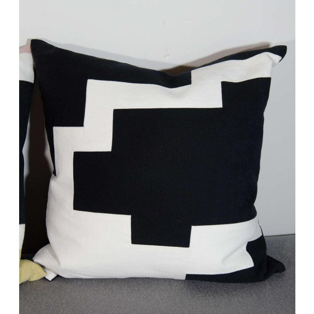 Architectural Italian Linen Throw Pillows by Arguello Casa For Sale - Image 5 of 7