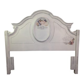 French Country Style Queen Headboard For Sale