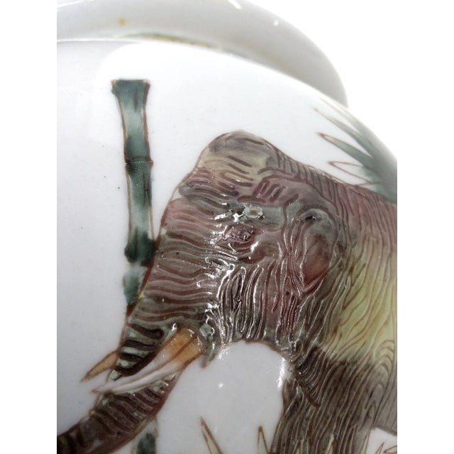 Safari Style Porcelain Elephant Lamp - Image 10 of 10