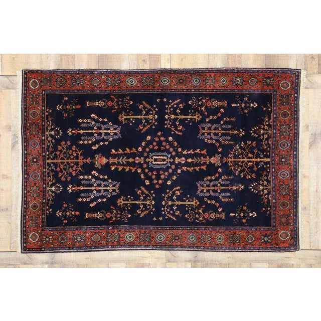 Early 20th Century Antique Persian Sarouk Rug - 4′3″ × 6′5″ For Sale - Image 4 of 8