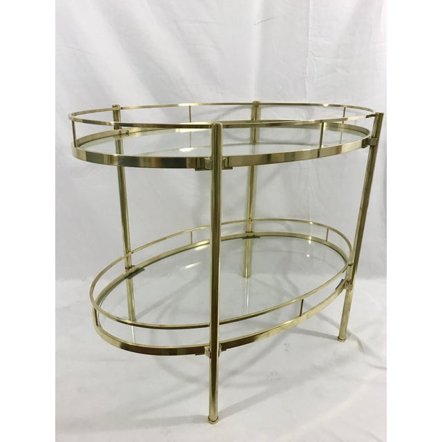Metal Solid Brass MCM Side Table For Sale - Image 7 of 7