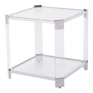Blink Home Silver End Table For Sale