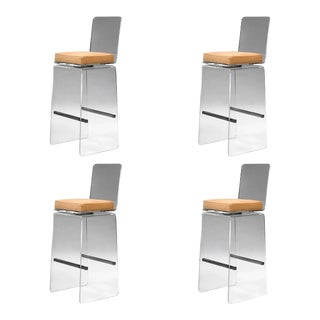 """Waterfall"" Barstools by Charles Hollis Jones - Set of 4 For Sale"