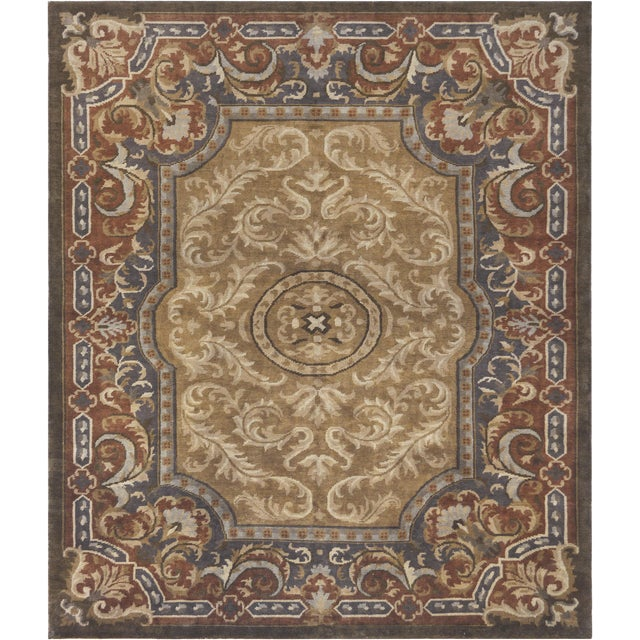 Mansour Fine Handwoven Savonnerie Rug For Sale