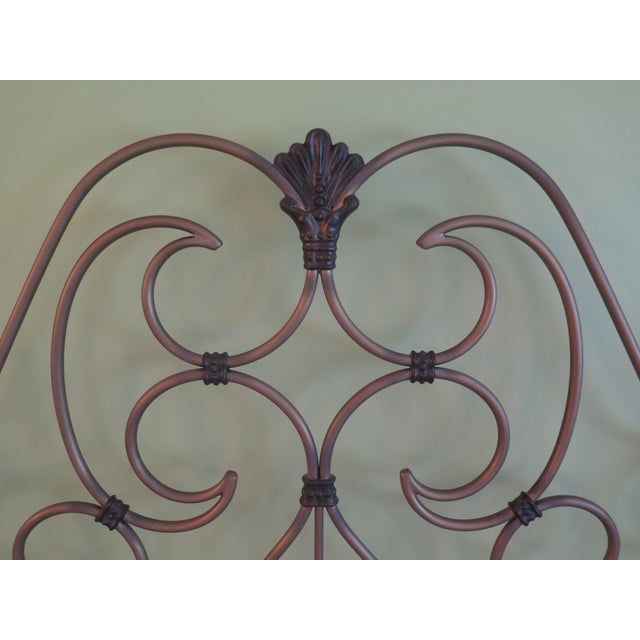 2000 - 2009 Vintage Victorian Style Metal High Back Queen Size Bed Frame For Sale - Image 5 of 12