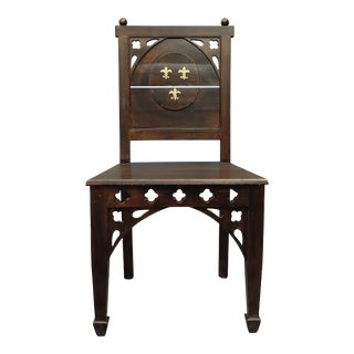 Early 20th Century Vintage English Hall Chair For Sale
