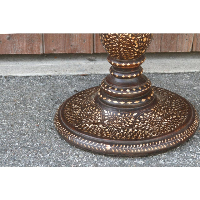 Wood Damascene Inlay Round Table For Sale - Image 7 of 11
