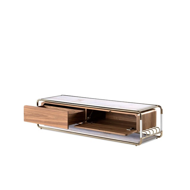 Not Yet Made - Made To Order Lautner Entertainment Console From Covet Paris For Sale - Image 5 of 9