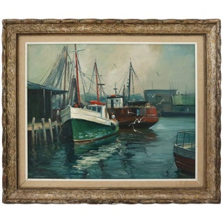 """""""Rockport"""" Oil Painting on Canvas by M. Stoffa, American For Sale"""