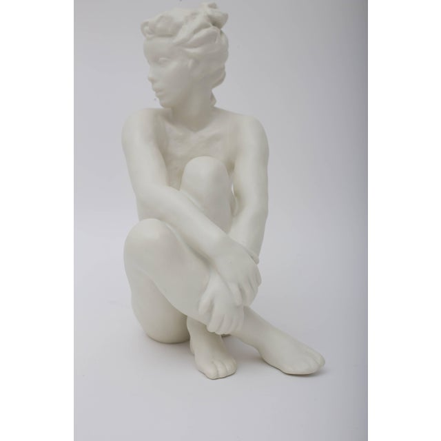 Art Deco Figurine Sculpture of Nude Female by Frederich Gronau for Rosenthal For Sale - Image 3 of 7