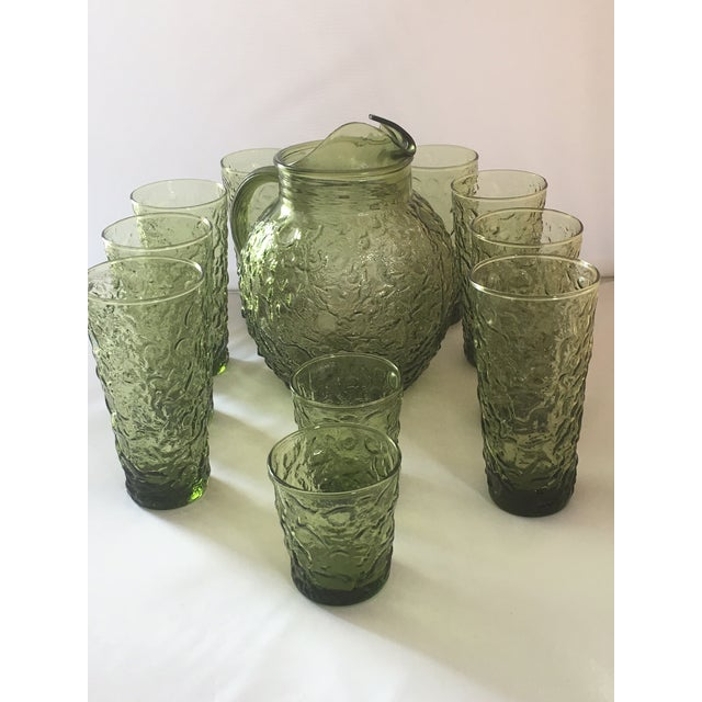 Vintage Avocado Green Lido Pitcher Set - Image 7 of 10