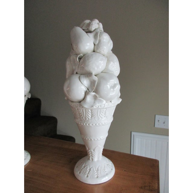 Mid 20th Century Italian Style Fruit Topiary Candle Sticks - A Pair For Sale - Image 5 of 13