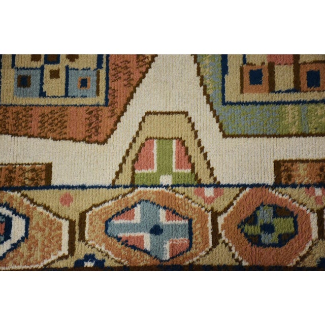 "Mid-Century Modern Ege Axminster Abstract Danish Rug 79"" X 54"" For Sale - Image 3 of 12"