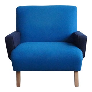1960s Vintage Two-Tone French Armchair For Sale