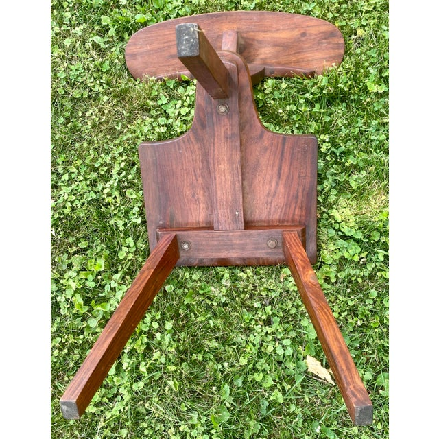 1920s Antique Brass Work & Walnut Cock Fighting Betting Chair For Sale - Image 9 of 10