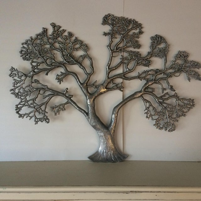 Mid-Century Industrial Aluminum Tree of Life - Image 2 of 11