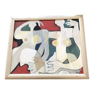 Original Contemporary Stewart Ross Abstract Double Nude Painting For Sale