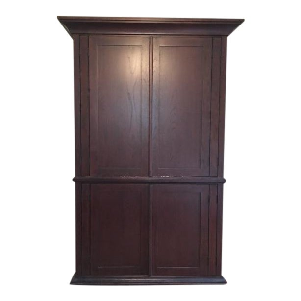 Pottery Barn Solid Wood Entertainment Cabinet / Armoire - Image 1 of 5