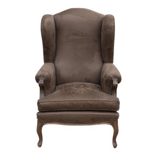 French Style Wingback Chair For Sale