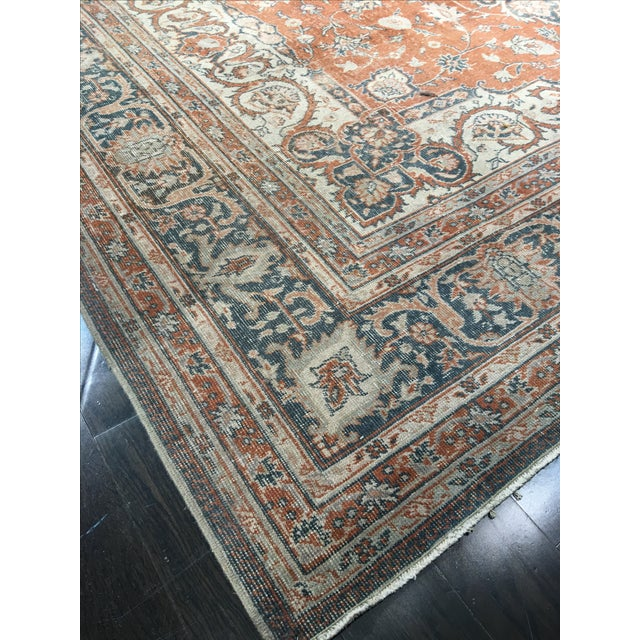 "Vintage Turkish Oushak Rug - 8'9"" x 11'10"" - Image 8 of 8"