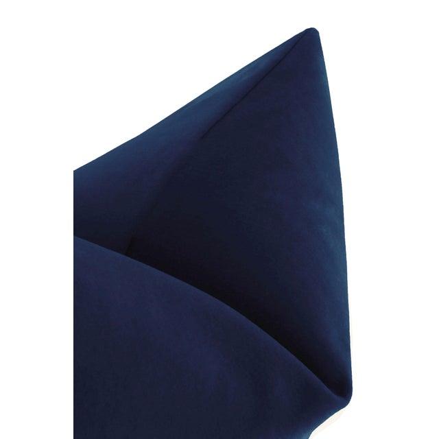 """22"""" Sapphire Italian Velvet Pillows - a Pair For Sale - Image 4 of 5"""