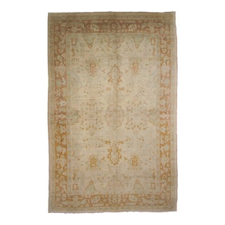 "Hand Knotted Oushak Rug - 9'10"" X 13'10"""