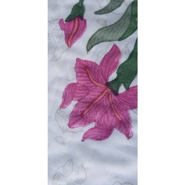 Hand Block Print Cotton Queen Size Bed Quilt For Sale - Image 4 of 8