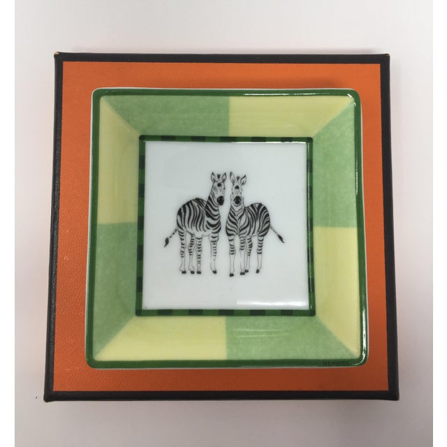 Hermes Miniature Zebra Tray. A fun object for display!