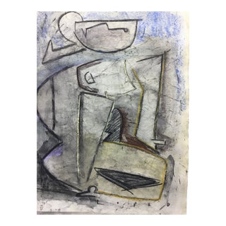 Lucia Lopez Cubist Figurative Painting For Sale