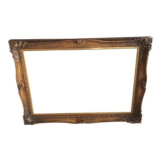 Gilded Wooden Large Frame For Sale
