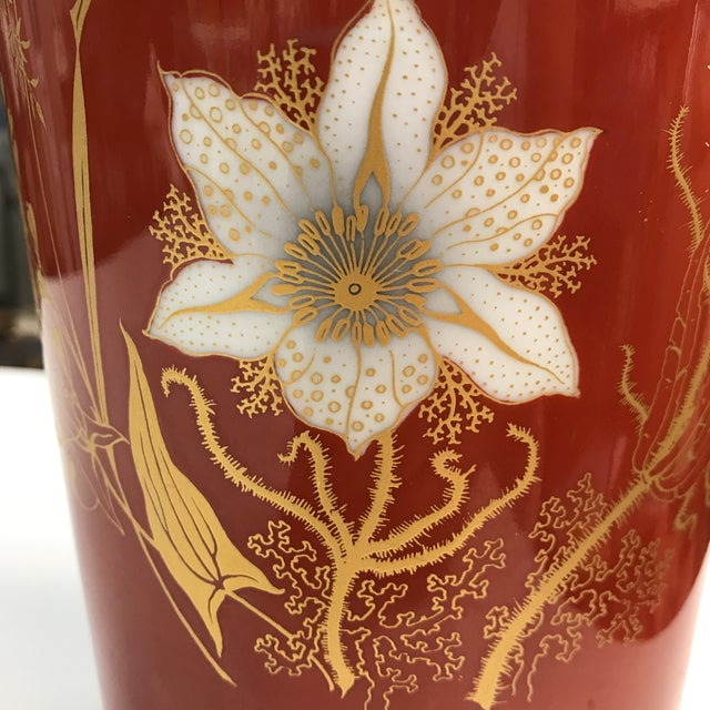 Jaeger & Co. Hand-Painted Vase For Sale - Image 11 of 11