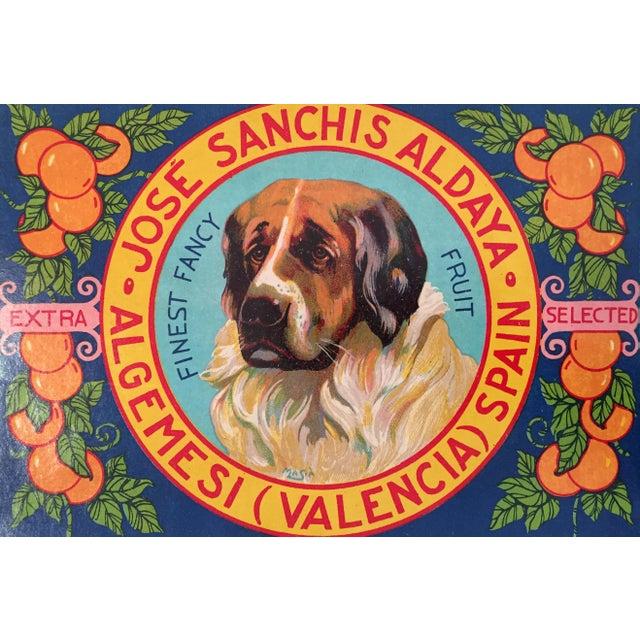 1930s Vintage Spanish Label, Handsome Hound - Image 2 of 2