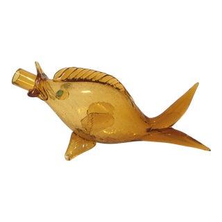 Blenko Era Glass Fish Decanter