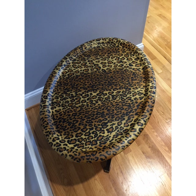 1980s Contemporary Sarreid Animal Print Tray Table For Sale In Raleigh - Image 6 of 12