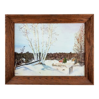 Eisenhower Print on Canvas of Winter Birches For Sale