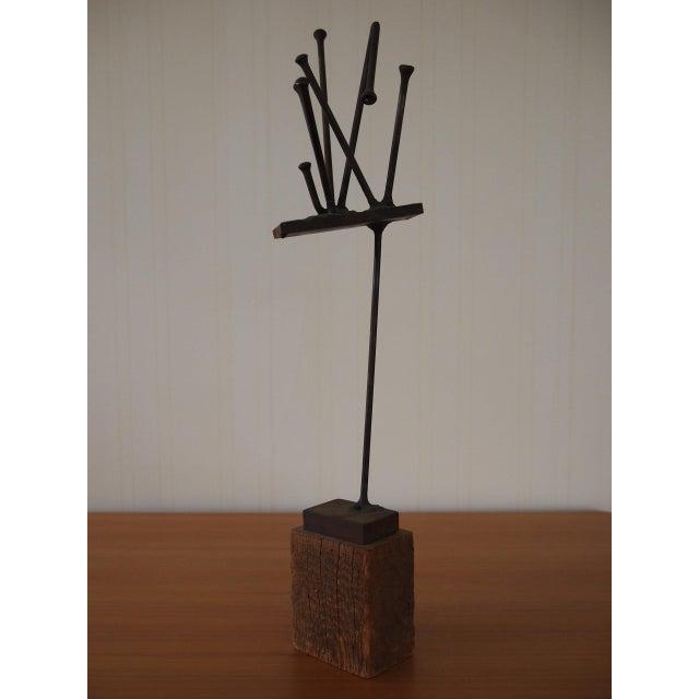 Brutalist Vintage Original William F. Sellers Sculpture 1960 For Sale - Image 3 of 10