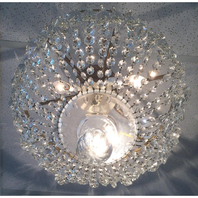 Empire Vintage Empire Crystal Chandelier For Sale - Image 3 of 5