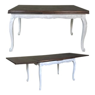 Antique Country French Draw Leaf Painted/Stained Dining Table For Sale